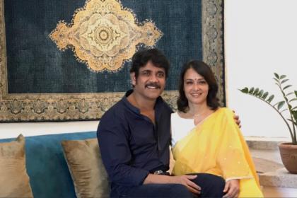 Love you sweetheart: Nagarjuna wishes wife Amala on b'day
