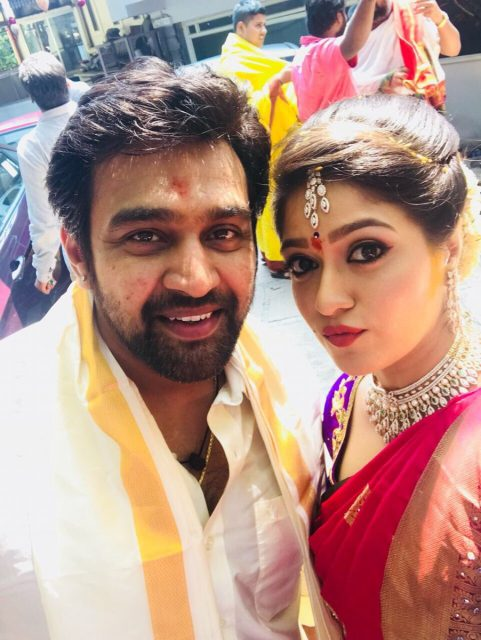 Photos: Sandalwood actors Chiranjeevi Sarja and Meghana Raj get hitched