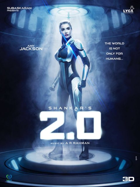 2 0 new poster amy jackson s cyborg avatar is simply mind blowing