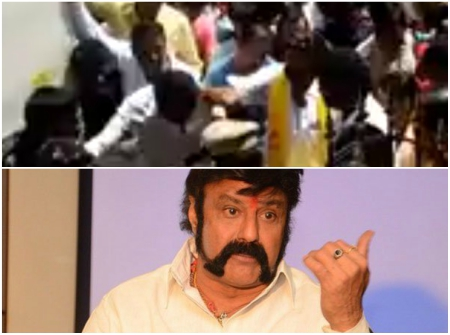Watch: Nandamuri Balakrishna slaps a man again during a campaign in his constituency