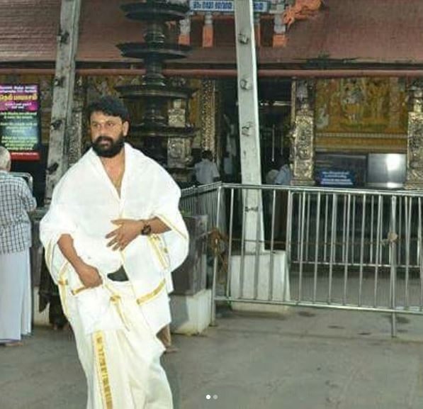 Photos: Out on bail in the Malayalam actress assault case, actor Dileep visits the famous Sabarimala temple