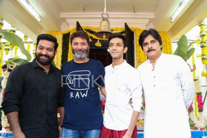 Photos: Launch of Jr NTR's upcoming film with director Trivikram Srinivas