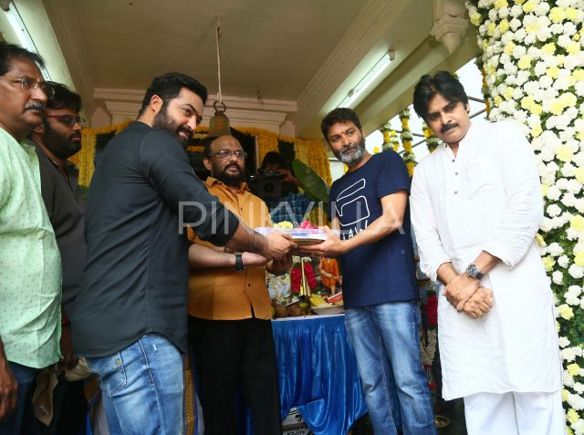 Photos: Launch of Jr NTR's upcoming film with director Trivikram Srinivas