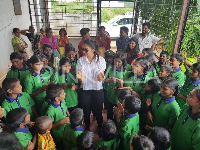 Photos: Rakul Preet celebrates birthday with her little fans