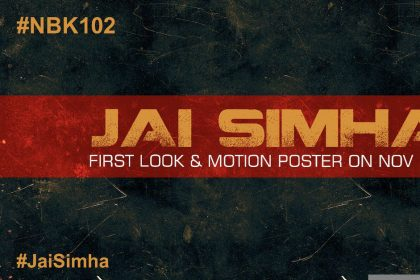 Nandamuri Balakrishna's next with director KS Ravi Kumar titled 'Jai Simha'; First look to be out November 1st