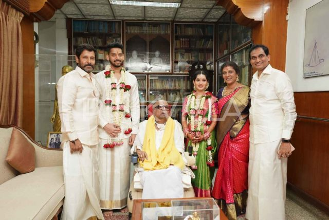 Photos: Actor Vikram's daughter Akshita gets married today in Chennai