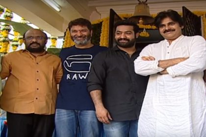 Jr NTR's film with Trivikram Srinivas gets launched; Pawan Kalyan gives a clap for the first shot