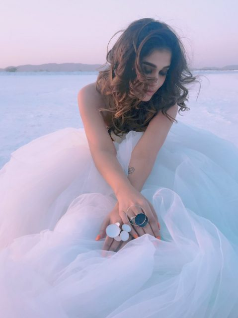 Photo: Nayanthara looks angelic in this picture taken during the making of 'Velaikkaran' in Rajasthan
