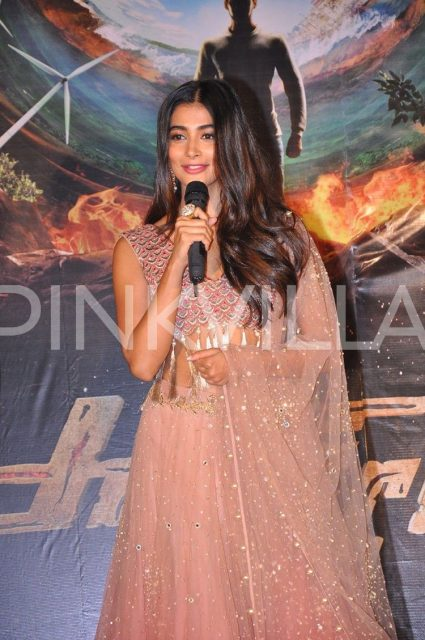 Photos: Official poster launch of Bellamkona Srrenivas and Pooja Hegde film which is titled 'Sakshyam'