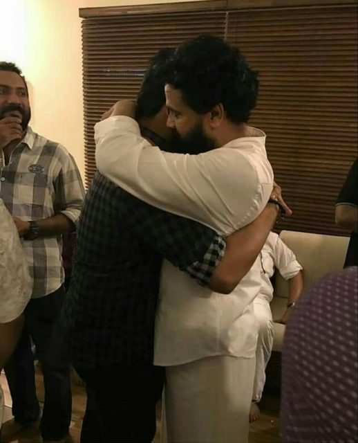 Photos: Dileep is received by waiting fans outside, meets friends and well-wishers at home