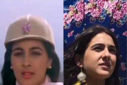सारा अली खान माँ अमृता के बेताब फिल्म के लुक की याद दिलाई
