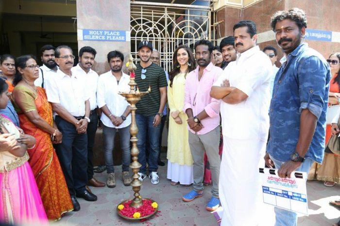 Photos: Dulquer Salmaan and Ritu Varma's Tamil 'Kannum Kannum Kollaiyadaithaal' gets launched officially
