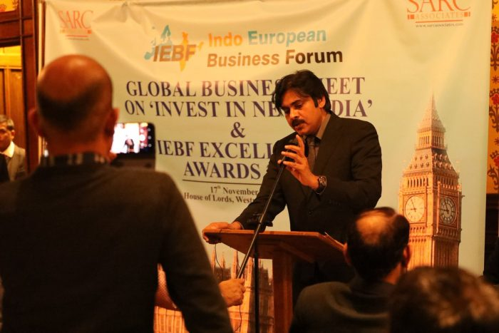 Photos: Pawan Kalyan honored with IEBF Excellence Award for his contribution towards cinema and social causes