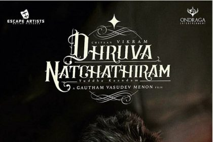 Vikram looks stylish in the latest poster of Dhruva Natchathiram