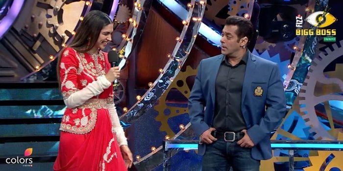 सलमान खान और दीपिका पादुकोण दिखे बिग बॉस 11 के मंच पर