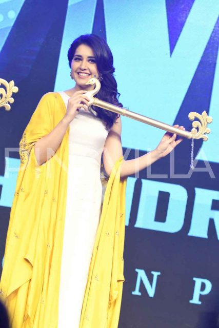 Photos: Samantha Akkineni, Sai Dharam Tej and Raashi Khanna grace the audio launch of 'Balakrishnudu'