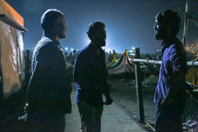 Dhanush shares a photo from the sets of Vada Chennai