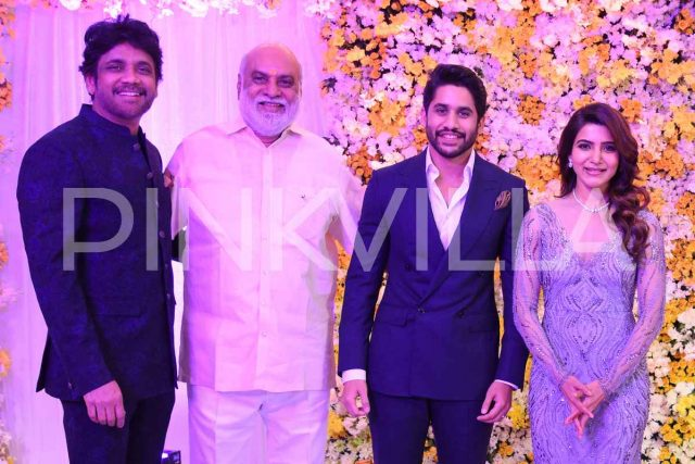 Photos: Naga Chaitanya and Samantha Ruth Prabhu host a grand reception for the film fraternity
