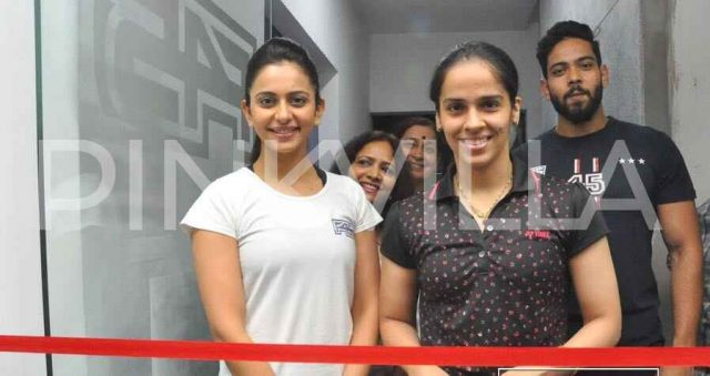 Photos - Rakul Preet expands her fitness centre chain; Saina Nehwal inaugurates another on in Hyderabad