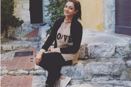 Photo: Kajal Aggarwal chills in France where she is shooting for 'Paris Paris'