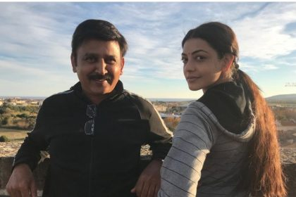 Photo: A lovely Kajal Aggarwal with her 'Paris Paris' director Ramesh Aravind