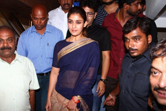 Photos: Aramm star Nayanthara meets fans at a theatre