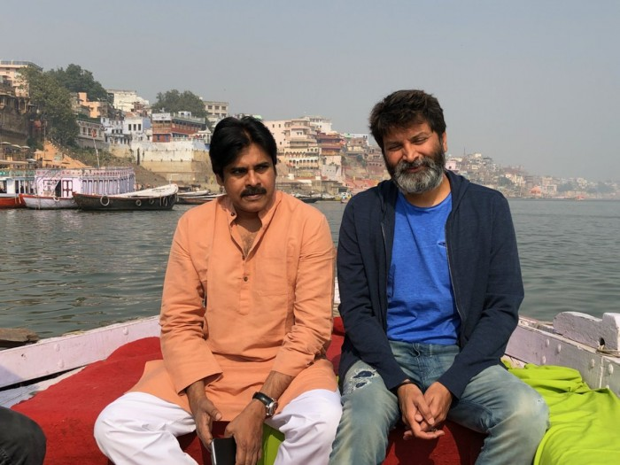 Photos: Pawan Kalyan and his Agnyaathavaasi team in Varanasi