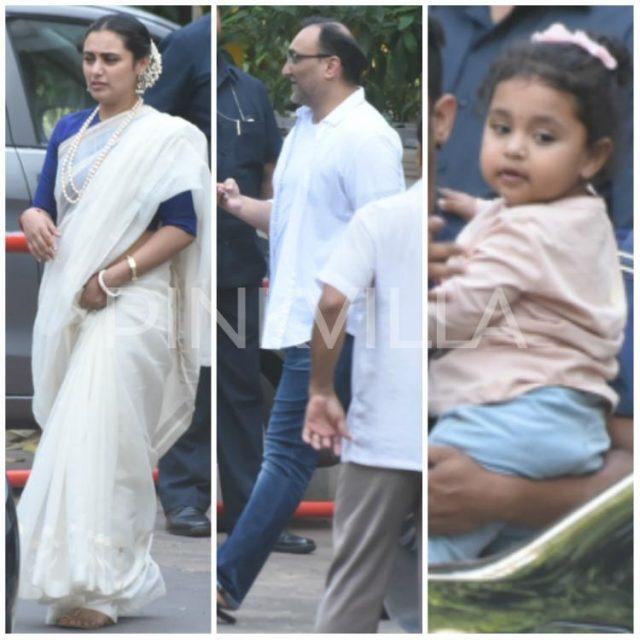 रानी मुखर्जी के साथ दिखे आदित्य चोपड़ा और बेटी आदिरा