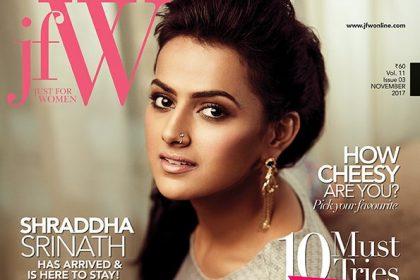 Shraddha Srinath looks elegant on the cover of a popular magazine