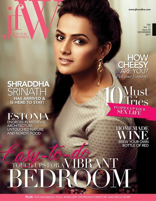 Shraddha Srinath looks elegant on the cover of a popular magazine