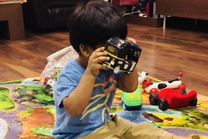 Soundarya Rajinikanth's son looks adorable as he swings into Baasha mode