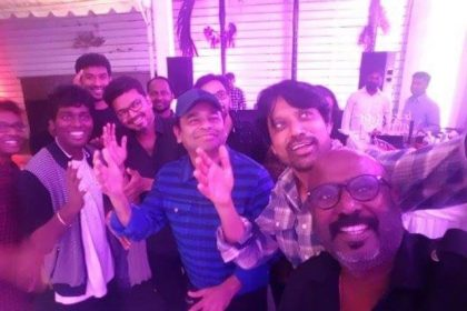 Actor Vijay hosts a success party for the cast and crew of 'Mersal'