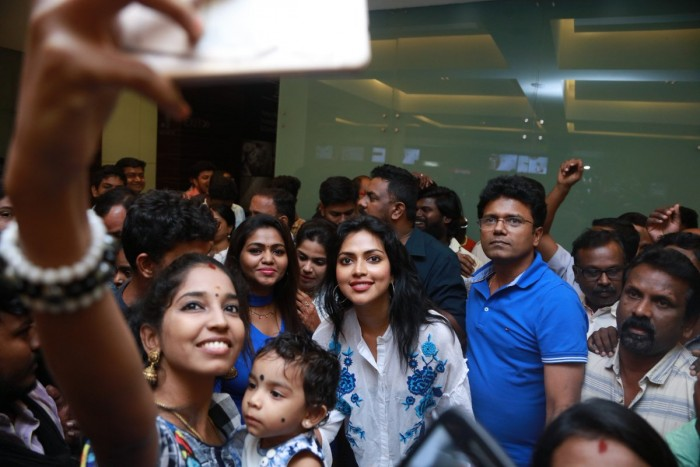 Photos: Amala Paul celebrates the success of Thiruttu Payale 2 at a popular theatre