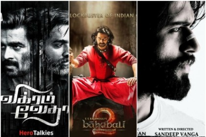 'Vikram Vedha', 'Baahubali 2' and 'Arjun Reddy' top the IMDB best films of 2017 list