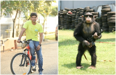 Jiiva and Shalini Pandey starrer titled GORILLA; A Chimpanzee to play a central role
