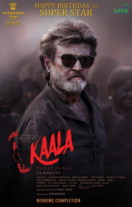Makers of 'Kaala' release second look of Rajinikanth from the film on the superstar's birthday