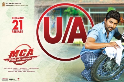 Nani-Sai Pallavi starrer MCA cleared with U/A certificate, to hit screens as planned