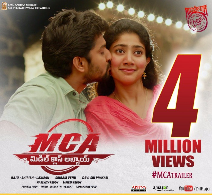 MCA: The trailer of Nani and Sai Pallavi's film gets over 34million views