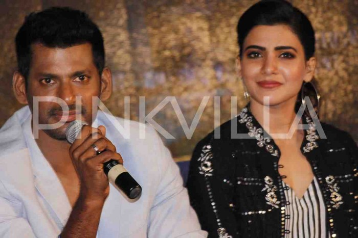 Photos: Vishal and Samantha Akkineni attend the teaser launch of 'Irumbu Thirai'