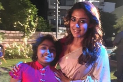 Photo: A lovely Nayanthara on the shoot location of Imaikkaa Nodigal