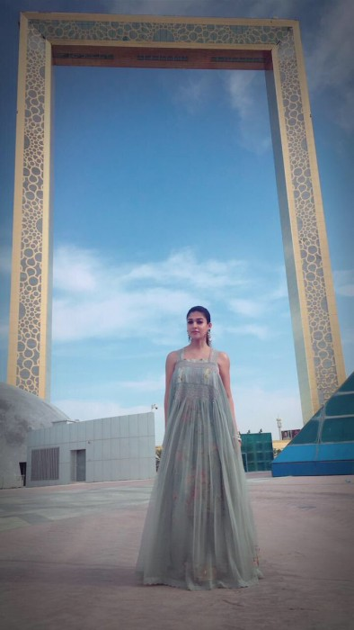 Nayanthara looks beautiful as she shoots for Jai Simha