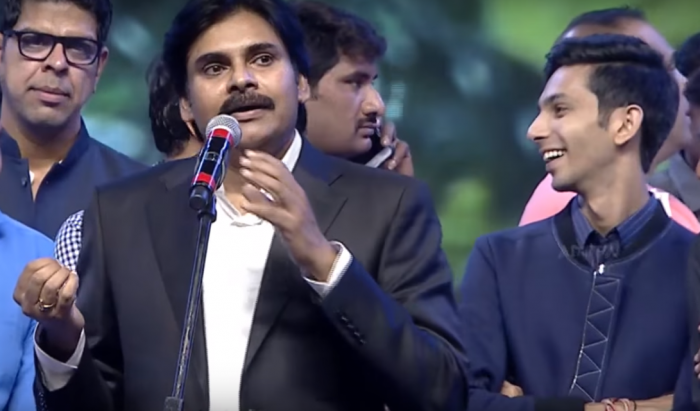I really loved Anirudh Ravichander's compositions, said Pawan Kalyan at Agnyaathavaasi audio launch