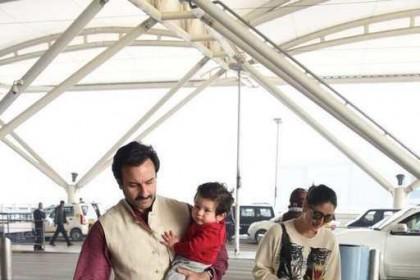 करीना कपूर और सैफ अली खान के साथ तैमूर का यह पटौदी अंदाज