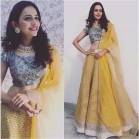 Rakul Preet shines bright in 'Jade' for a family wedding