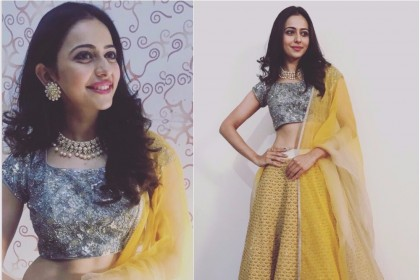 Rakul Preet shines bright in 'Jade' for a family wedding