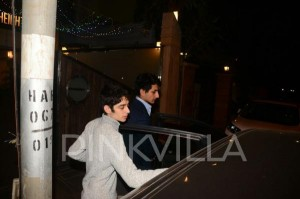सैफ अली खान और अमृता सिंह के बेटे इब्राहिम पार्टी में शामिल