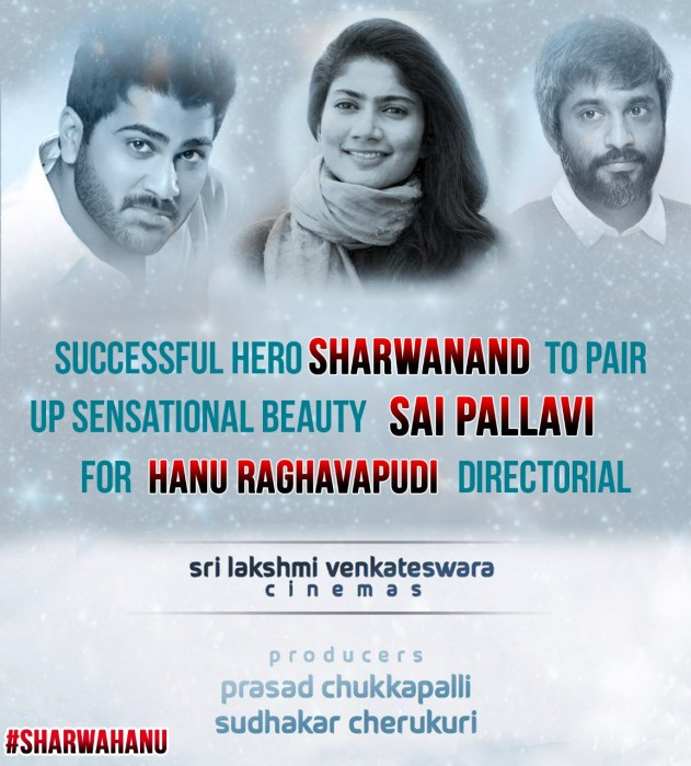 Sai Pallavi to play the female lead in Sharwanand's film with director Hanu Raghavapudi