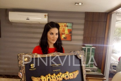 Photos: Sunny Leone launches the title and logo of her first Telugu film
