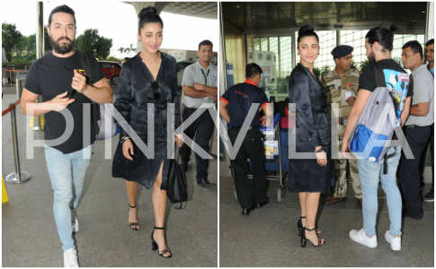 Airport Diaries: Shruti Haasan spotted with rumoured boyfriend Michael Corsale in Mumbai