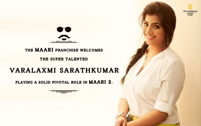 Varalaxmi Sarathkumar roped in for Maari 2 starring Dhanush and Sai Pallavi
